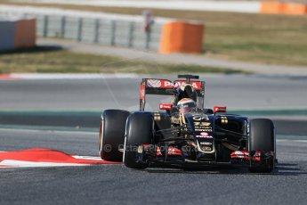World © Octane Photographic Ltd. Lotus F1 Team E23 Hybrid – Pastor Maldonado. Thursday 19th February 2015, F1 Winter testing, Circuit de Catalunya, Barcelona, Spain, Day 1. Digital Ref : 1187LB1D5723