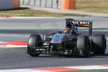 World © Octane Photographic Ltd. Sahara Force India VJM07 – Pascal Wehrlein. Thursday 19th February 2015, F1 Winter testing, Circuit de Catalunya, Barcelona, Spain, Day 1. Digital Ref : 1187LB1D5794