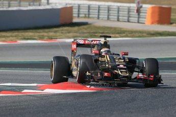 World © Octane Photographic Ltd. Lotus F1 Team E23 Hybrid – Pastor Maldonado. Thursday 19th February 2015, F1 Winter testing, Circuit de Catalunya, Barcelona, Spain, Day 1. Digital Ref :
