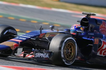 World © Octane Photographic Ltd. Scuderia Toro Rosso STR10 – Max Verstappen. Thursday 19th February 2015, F1 Winter testing, Circuit de Catalunya, Barcelona, Spain, Day 1. Digital Ref: 1187LB1D5929