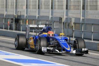 World © Octane Photographic Ltd. Sauber F1 Team C34-Ferrari – Felipe Nasr. Thursday 19th February 2015, F1 Winter testing, Circuit de Catalunya, Barcelona, Spain, Day 1. Digital Ref : 1187LB1D5978