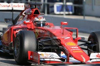 World © Octane Photographic Ltd. Scuderia Ferrari SF15-T – Kimi Raikkonen Thursday 19th February 2015, F1 Winter testing, Circuit de Catalunya, Barcelona, Spain, Day 1. Digital Ref: 1187LB1D6074
