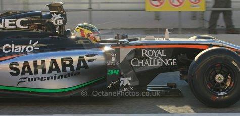 World © Octane Photographic Ltd. Sahara Force India VJM07 – Pascal Wehrlein. Thursday 19th February 2015, F1 Winter testing, Circuit de Catalunya, Barcelona, Spain, Day 1. Digital Ref : 1187LW1L4839