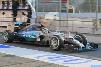 World © Octane Photographic Ltd. Mercedes AMG Petronas F1 W06 Hybrid – Lewis Hamilton. Thursday 19th February 2015, F1 Winter testing, Circuit de Catalunya, Barcelona, Spain, Day 1. Digital Ref : 1187LW1L4863