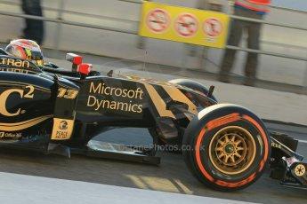 World © Octane Photographic Ltd. Lotus F1 Team E23 Hybrid – Pastor Maldonado. Thursday 19th February 2015, F1 Winter testing, Circuit de Catalunya, Barcelona, Spain, Day 1. Digital Ref : 1187LW1L4883