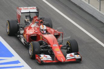 World © Octane Photographic Ltd. Scuderia Ferrari SF15-T– Sebastian Vettel. Saturday 21st February 2015, F1 Winter testing, Circuit de Barcelona Catalunya, Spain, Day 3. Digital Ref: 1190CB1L6865