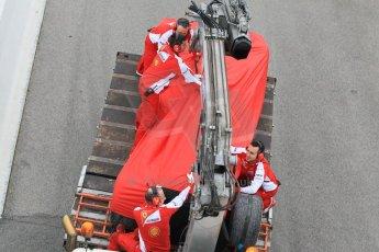 World © Octane Photographic Ltd. Scuderia Ferrari SF15-T– Sebastian Vettel. Saturday 21st February 2015, F1 Winter testing, Circuit de Barcelona Catalunya, Spain, Day 3. Digital Ref: 1190CB1L6924