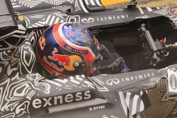 World © Octane Photographic Ltd. Infiniti Red Bull Racing RB11 – Daniil Kvyat practice pitstop. Saturday 21st February 2015, F1 Winter testing, Circuit de Barcelona Catalunya, Spain, Day 3. Digital Ref : 1190CB1L7396