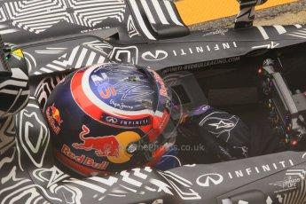 World © Octane Photographic Ltd. Infiniti Red Bull Racing RB11 – Daniil Kvyat practice pitstop. Saturday 21st February 2015, F1 Winter testing, Circuit de Barcelona Catalunya, Spain, Day 3. Digital Ref : 1190CB1L7403