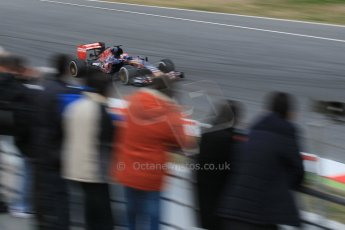 World © Octane Photographic Ltd. Scuderia Toro Rosso STR10 – Max Verstappen. Saturday 21st February 2015, F1 Winter testing, Circuit de Barcelona Catalunya, Spain, Day 3. Digital Ref: 1190CB1L7449