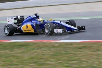 World © Octane Photographic Ltd. Sauber F1 Team C34-Ferrari – Marcus Ericsson. Saturday 21st February 2015, F1 Winter testing, Circuit de Barcelona Catalunya, Spain, Day 3. Digital Ref : 1190CB1L8324