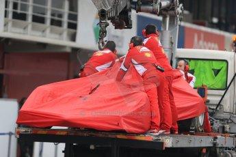 World © Octane Photographic Ltd. Scuderia Ferrari SF15-T– Sebastian Vettel. Saturday 21st February 2015, F1 Winter testing, Circuit de Catalunya, Barcelona, Spain, Day 3. Digital Ref: 1190LB1D7846