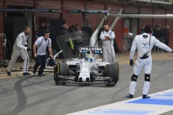 World © Octane Photographic Ltd. Williams Martini Racing FW37 – Felipe Massa. Saturday 21st February 2015, F1 Winter testing, Circuit de Catalunya, Barcelona, Spain, Day 3. Digital Ref: 1190LB1D7974