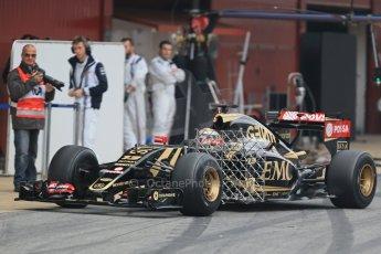 World © Octane Photographic Ltd. Lotus F1 Team E23 Hybrid – Pastor Maldonado. Saturday 21st February 2015, F1 Winter testing, Circuit de Catalunya, Barcelona, Spain, Day 3. Digital Ref : 1190LB1D7995