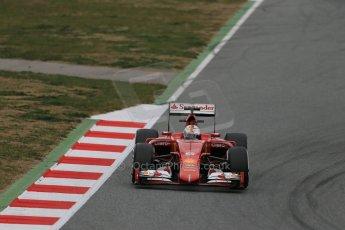 World © Octane Photographic Ltd. Scuderia Ferrari SF15-T– Sebastian Vettel. Saturday 21st February 2015, F1 Winter testing, Circuit de Catalunya, Barcelona, Spain, Day 3. Digital Ref: 1190LB1D8333