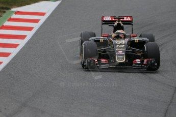 World © Octane Photographic Ltd. Lotus F1 Team E23 Hybrid – Pastor Maldonado. Saturday 21st February 2015, F1 Winter testing, Circuit de Catalunya, Barcelona, Spain, Day 3. Digital Ref : 1190LB1D8459