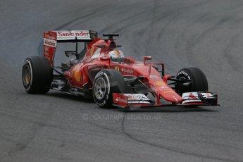 World © Octane Photographic Ltd. Scuderia Ferrari SF15-T– Sebastian Vettel. Saturday 21st February 2015, F1 Winter testing, Circuit de Catalunya, Barcelona, Spain, Day 3. Digital Ref: 1190LB1D8476