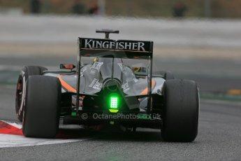 World © Octane Photographic Ltd. Sahara Force India VJM07 – Pascal Wehrlein. Saturday 21st February 2015, F1 Winter testing, Circuit de Catalunya, Barcelona, Spain, Day 3. Digital Ref : 1190LB1D8602