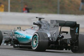 World © Octane Photographic Ltd. Mercedes AMG Petronas F1 W06 Hybrid – Lewis Hamilton. Saturday 21st February 2015, F1 Winter testing, Circuit de Catalunya, Barcelona, Spain, Day 3. Digital Ref : 1190LB1D8719