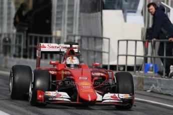 World © Octane Photographic Ltd. Scuderia Ferrari SF15-T– Sebastian Vettel. Saturday 21st February 2015, F1 Winter testing, Circuit de Catalunya, Barcelona, Spain, Day 3. Digital Ref: 1190LB1D8783