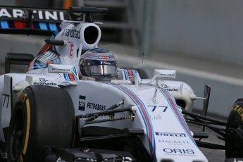 World © Octane Photographic Ltd. Williams Martini Racing FW37 – Valtteri Bottas, Saturday 21st February 2015, F1 Winter testing, Circuit de Catalunya, Barcelona, Spain, Day 3. Digital Ref: 1190LB1D8946