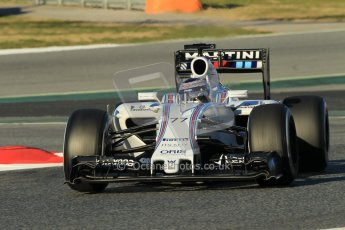 World © Octane Photographic Ltd. Williams Martini Racing FW37 – Valtteri Bottas. Sunday 22nd February 2015, F1 Winter testing, Circuit de Barcelona Catalunya, Spain, Day 4. Digital Ref: 1191CB1L8655