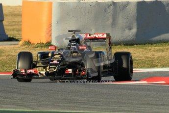 World © Octane Photographic Ltd. Lotus F1 Team E23 Hybrid – Romain Grosjean. Sunday 22nd February 2015, F1 Winter testing, Circuit de Barcelona Catalunya, Spain, Day 4. Digital Ref :1191CB1L8682