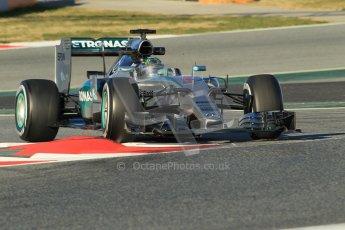 World © Octane Photographic Ltd. Mercedes AMG Petronas F1 W06 Hybrid – Nico Rosberg. Sunday 22nd February 2015, F1 Winter testing, Circuit de Barcelona Catalunya, Spain, Day 4. Digital Ref : 1191CB1L8853