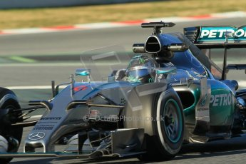 World © Octane Photographic Ltd. Mercedes AMG Petronas F1 W06 Hybrid – Nico Rosberg. Sunday 22nd February 2015, F1 Winter testing, Circuit de Barcelona Catalunya, Spain, Day 4. Digital Ref : 1191CB1L8862