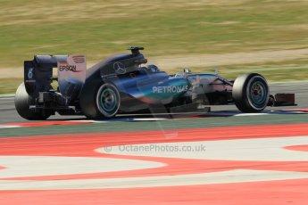 World © Octane Photographic Ltd. Mercedes AMG Petronas F1 W06 Hybrid – Nico Rosberg. Sunday 22nd February 2015, F1 Winter test #2, Circuit de Barcelona Catalunya, Spain, Day 4. Digital Ref : 1191CB1L9227