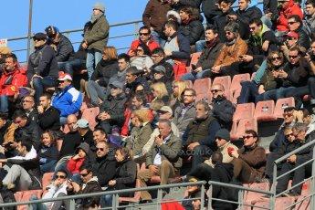 World © Octane Photographic Ltd. Fans in the grandstands. Sunday 22nd February 2015, F1 Winter test #2, Circuit de Barcelona Catalunya, Spain, Day 4. Digital Ref: 1191CB1L9318