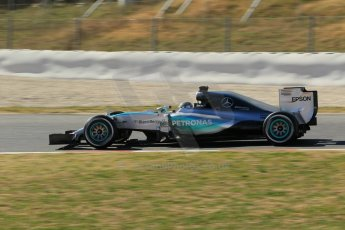 World © Octane Photographic Ltd. Mercedes AMG Petronas F1 W06 Hybrid – Nico Rosberg. Sunday 22nd February 2015, F1 Winter test #2, Circuit de Barcelona Catalunya, Spain, Day 4. Digital Ref : 1191CB1L9367
