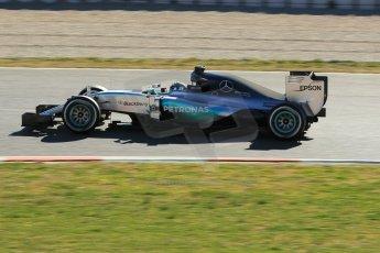 World © Octane Photographic Ltd. Mercedes AMG Petronas F1 W06 Hybrid – Nico Rosberg. Sunday 22nd February 2015, F1 Winter test #2, Circuit de Barcelona Catalunya, Spain, Day 4. Digital Ref : 1191CB1L9374