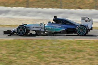 World © Octane Photographic Ltd. Mercedes AMG Petronas F1 W06 Hybrid – Nico Rosberg. Sunday 22nd February 2015, F1 Winter test #2, Circuit de Barcelona Catalunya, Spain, Day 4. Digital Ref : 1191CB1L9429