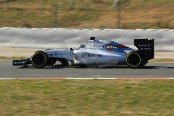World © Octane Photographic Ltd. Williams Martini Racing FW37 – Valtteri Bottas. Sunday 22nd February 2015, F1 Winter test #2, Circuit de Barcelona Catalunya, Spain, Day 4. Digital Ref: 1191CB1L9449