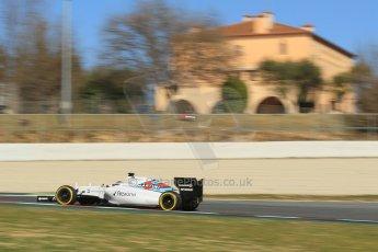 World © Octane Photographic Ltd. Williams Martini Racing FW37 – Valtteri Bottas. Sunday 22nd February 2015, F1 Winter test #2, Circuit de Barcelona Catalunya, Spain, Day 4. Digital Ref: 1191CB1L9506
