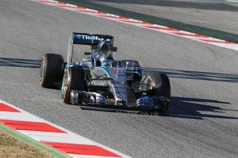 World © Octane Photographic Ltd. Mercedes AMG Petronas F1 W06 Hybrid – Nico Rosberg. Sunday 22nd February 2015, F1 Winter test #2, Circuit de Barcelona, Catalunya, Spain, Day 4. Digital Ref : 1191LB1D0048