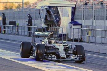 World © Octane Photographic Ltd. Mercedes AMG Petronas F1 W06 Hybrid – Nico Rosberg. Sunday 22nd February 2015, F1 Winter testing, Circuit de Catalunya, Barcelona, Spain, Day 4. Digital Ref : 1191LB1D9001