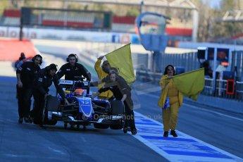 World © Octane Photographic Ltd. Sauber F1 Team C34-Ferrari – Felipe Nasr. Sunday 22nd February 2015, F1 Winter testing, Circuit de Catalunya, Barcelona, Spain, Day 4. Digital Ref : 1191LB1D9478