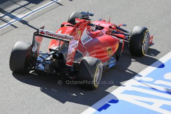 World © Octane Photographic Ltd. Scuderia Ferrari SF15-T– Sebastian Vettel. Sunday 22nd February 2015, F1 Winter test #2, Circuit de Barcelona, Catalunya, Spain, Day 4. Digital Ref: 1191LB1D9560