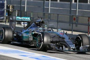 World © Octane Photographic Ltd. Mercedes AMG Petronas F1 W06 Hybrid – Nico Rosberg. Sunday 22nd February 2015, F1 Winter test #2, Circuit de Barcelona, Catalunya, Spain, Day 4. Digital Ref : 1191LB1D9643