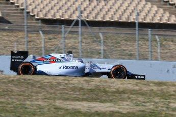 World © Octane Photographic Ltd. Williams Martini Racing FW37 – Valtteri Bottas. Sunday 22nd February 2015, F1 Winter test #2, Circuit de Barcelona, Catalunya, Spain, Day 4. Digital Ref: 1191LB1D9897