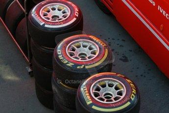 World © Octane Photographic Ltd. Scuderia Ferrari - Pirelli tyres. Sunday 22nd February 2015, F1 Winter test #2, Circuit de Barcelona, Catalunya, Spain, Day 4. Digital Ref: 1191LB7L6445
