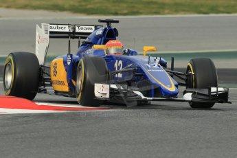 World © Octane Photographic Ltd. Sauber F1 Team C34-Ferrari – Felipe Nasr. Sunday 1st March 2015, F1 Winter test #3, Circuit de Barcelona-Catalunya, Spain Test 2 Day 4. Digital Ref: 1195CB1L3748