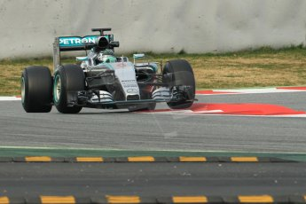World © Octane Photographic Ltd. Mercedes AMG Petronas F1 W06 Hybrid – Nico Rosberg. Sunday 1st March 2015, F1 Winter test #3, Circuit de Barcelona-Catalunya, Spain Test 2 Day 4. Digital Ref: 1195CB1L4024