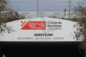 World © Octane Photographic Ltd. Sunday 1st March 2015, F1 Winter test #3, Circuit de Barcelona-Catalunya exit sign, Spain Test 2 Day 4. Digital Ref: 1195CB1L4161