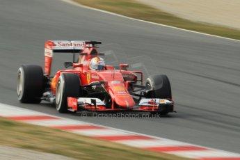 World © Octane Photographic Ltd. Scuderia Ferrari SF15-T– Sebastian Vettel. Sunday 1st March 2015, F1 Winter test #3, Circuit de Barcelona-Catalunya, Spain Test 2 Day 4. Digital Ref: 1195CB1L4283