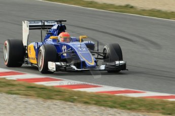 World © Octane Photographic Ltd. Sauber F1 Team C34-Ferrari – Felipe Nasr. Sunday 1st March 2015, F1 Winter test #3, Circuit de Barcelona-Catalunya, Spain Test 2 Day 4. Digital Ref: 1195CB1L4361