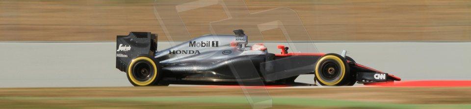 World © Octane Photographic Ltd. McLaren Honda MP4/30 – Jenson Button. Saturday. Sunday 1st March 2015, F1 Winter test #3, Circuit de Barcelona-Catalunya, Spain Test 2 Day 4. Digital Ref: 1195CB7B1588