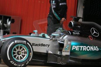 World © Octane Photographic Ltd. Mercedes AMG Petronas F1 W06 Hybrid – Nico Rosberg. Sunday 1st March 2015, F1 Winter test #3, Circuit de Barcelona-Catalunya, Spain Test 2 Day 4. Digital Ref : 1195LB1D3275